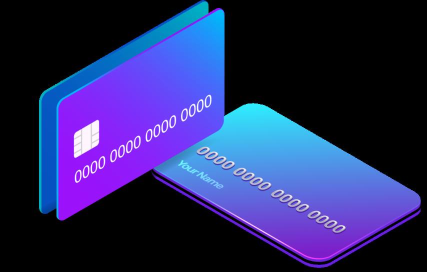 איור של כרטיסי אשראי